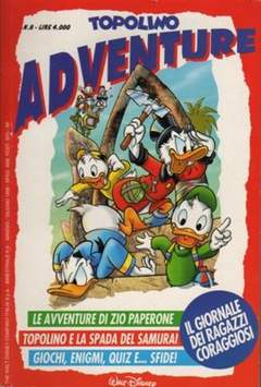 Copertina TOPOLINO ADVENTURE n.8 - TOPOLINO ADVENTURE           8, WALT DISNEY PRODUCTION