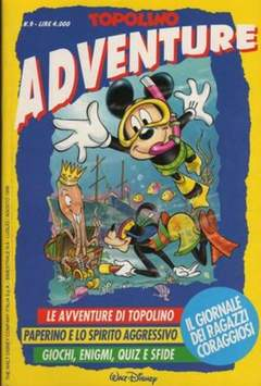 Copertina TOPOLINO ADVENTURE n.9 - TOPOLINO ADVENTURE           9, WALT DISNEY PRODUCTION