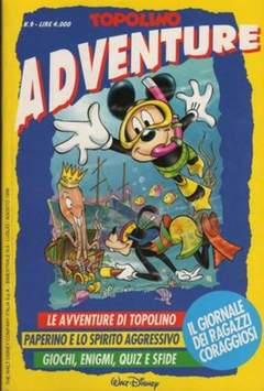 Copertina TOPOLINO ADVENTURE n.9 - TOPOLINO ADVENTURE           9, WALT DISNEY PRODUCTION