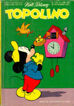 Copertina TOPOLINO LIBRETTO n.1147 - TOPOLINO  1147, WALT DISNEY PRODUCTION