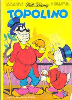 Copertina TOPOLINO LIBRETTO n.1193 - TOPOLINO  1193, WALT DISNEY PRODUCTION