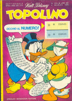 Copertina TOPOLINO LIBRETTO n.1214 - TOPOLINO  1214, WALT DISNEY PRODUCTION