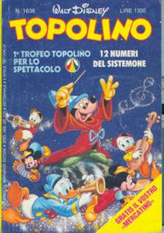 Copertina TOPOLINO LIBRETTO n.1636 - TOPOLINO  1636, WALT DISNEY PRODUCTION