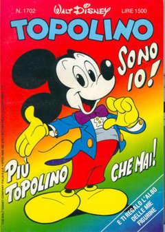 Copertina TOPOLINO LIBRETTO n.1702 - TOPOLINO  1702, WALT DISNEY PRODUCTION
