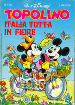 Copertina TOPOLINO LIBRETTO n.1791 - TOPOLINO  1791, WALT DISNEY PRODUCTION