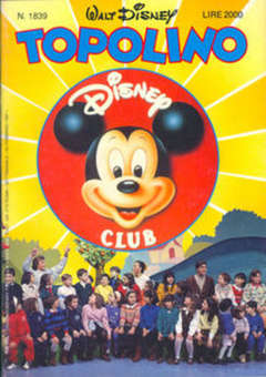 Copertina TOPOLINO LIBRETTO n.1839 - TOPOLINO  1839, WALT DISNEY PRODUCTION