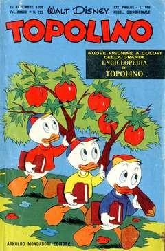Copertina TOPOLINO LIBRETTO n.222 - TOPOLINO   222, WALT DISNEY PRODUCTION