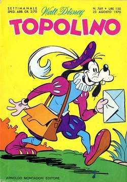 Copertina TOPOLINO LIBRETTO n.769 - TOPOLINO   769, WALT DISNEY PRODUCTION