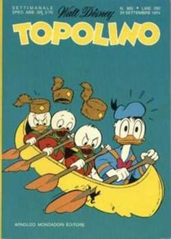 Copertina TOPOLINO LIBRETTO n.983 - TOPOLINO   983, WALT DISNEY PRODUCTION