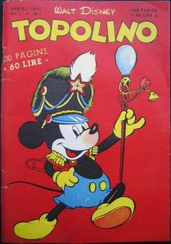 Copertina TOPOLINO LIBRETTO n.1 - TOPOLINO     1, WALT DISNEY PRODUCTION