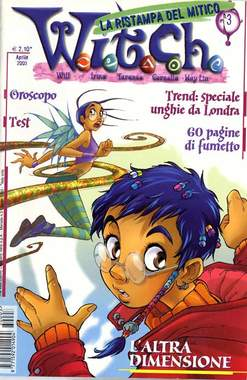 Copertina WITCH n.3 - L'altra dimensione ristampa, WALT DISNEY PRODUCTION