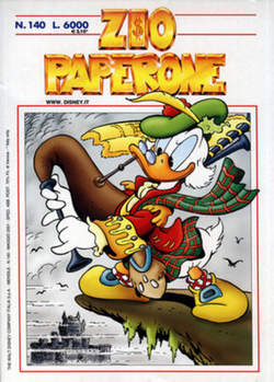 Copertina ZIO PAPERONE n.140 - ZIO PAPERONE      140, WALT DISNEY PRODUCTION