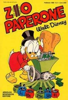 Copertina ZIO PAPERONE n.4 - ZIO PAPERONE        4, WALT DISNEY PRODUCTION