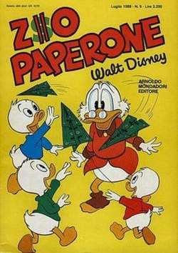 Copertina ZIO PAPERONE n.9 - ZIO PAPERONE        9, WALT DISNEY PRODUCTION