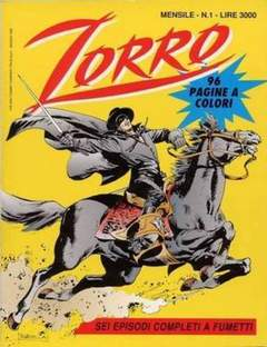 Copertina ZORRO 1993 n.1 - ZORRO 1993                   1, WALT DISNEY PRODUCTION