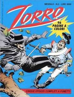 Copertina ZORRO 1993 n.2 - ZORRO 1993                   2, WALT DISNEY PRODUCTION