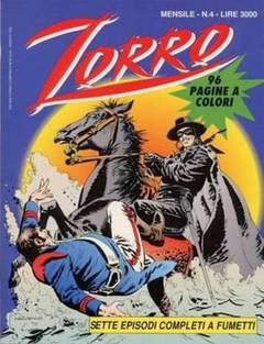 Copertina ZORRO 1993 n.4 - ZORRO 1993                   4, WALT DISNEY PRODUCTION